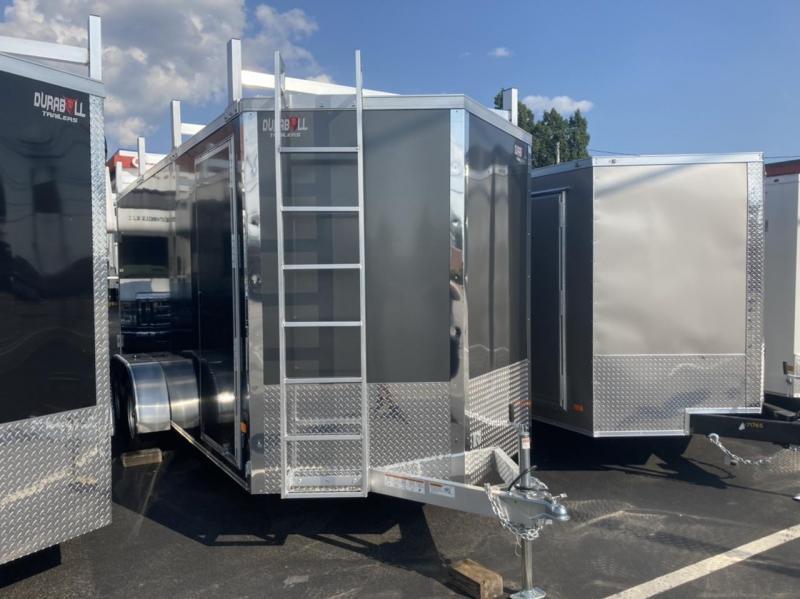 DuraBull 7 x 16 + 2' V Aluminum Contractor Trailer Barn Door