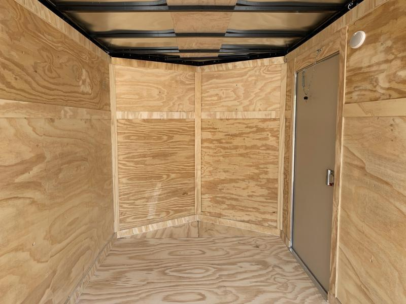 Covered Wagon 6 x 12 + 2' V Single Axle Enclosed Cargo Trailer Double Door