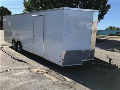 Covered Wagon 8.5 x 24 + 2' V Enclosed Car Hauler 10K