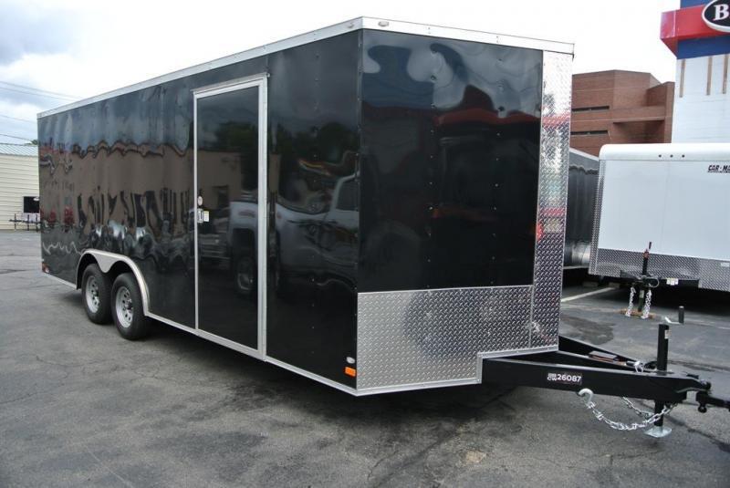 Covered Wagon Trailers 8.5 x 20 + 2' V Enclosed Car Hauler