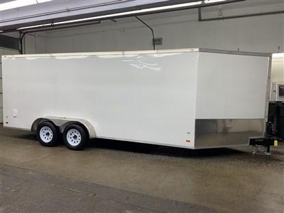 Covered Wagon 7' x 18' + 5' V Snowmobile Trailer