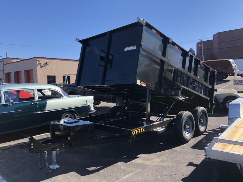 """Griffin 83"""" x 12' 12K High Sides Dump Trailer"""
