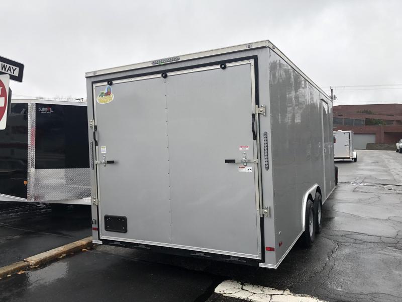 Covered Wagon Trailers 8.5 x 20 + 2' V Enclosed Car Hauler 10K