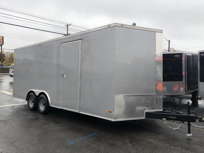 Covered Wagon Trailers 8.5 x 20 + 2' V Enclosed Car Hauler 10K