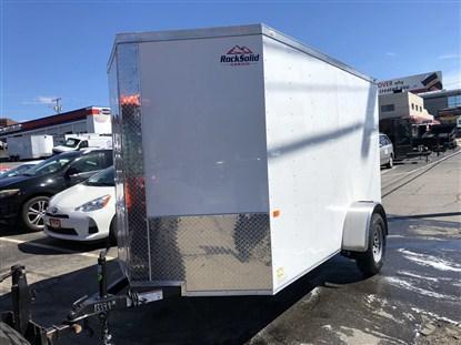 Rock Solid 6 x 10 + 2' V Single Axle Enclosed Cargo Trailer