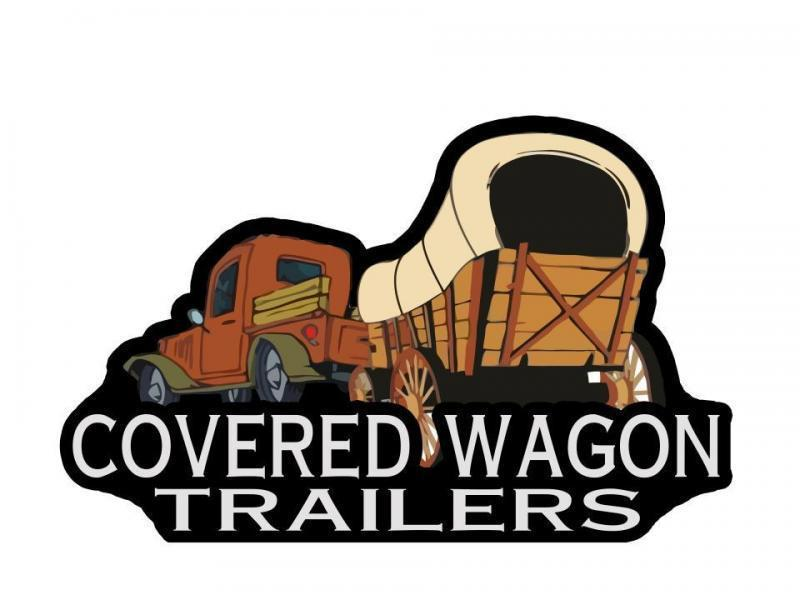 Covered Wagon 6 x 12 + 2' V Single Axle Enclosed Cargo Trailer  Powder coated Exterior