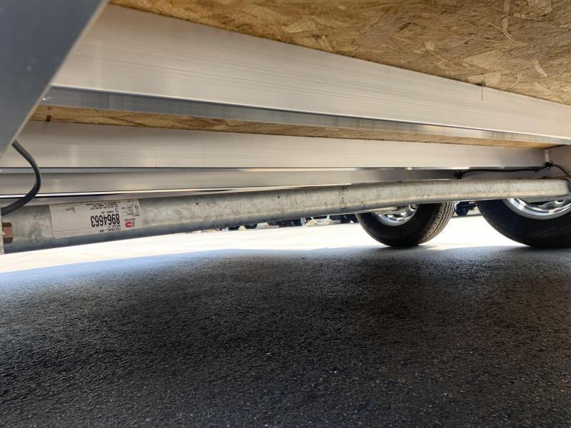 DuraBull 7 x 16 + 2' V Aluminum Contractor Trailer Ramp Door