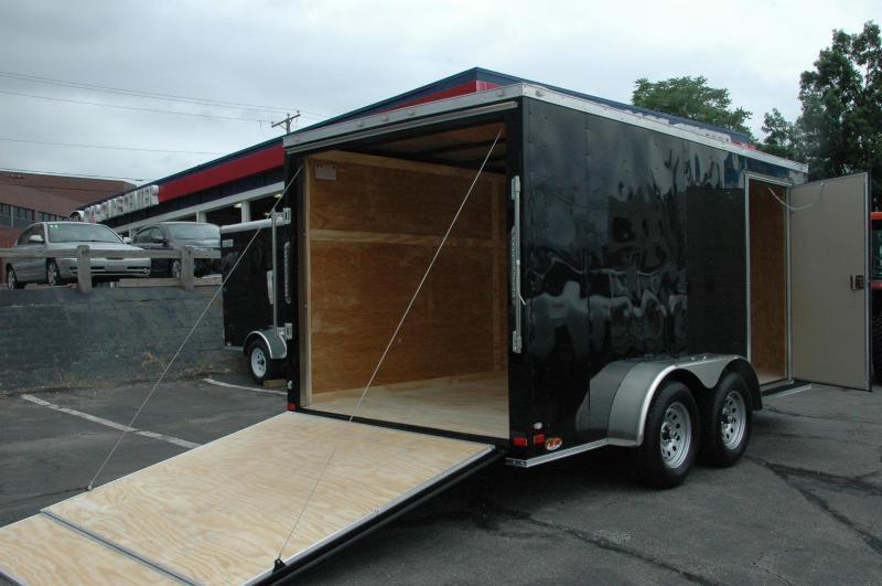 Covered Wagon 7 x 12 + 2' V Enclosed Cargo Trailer