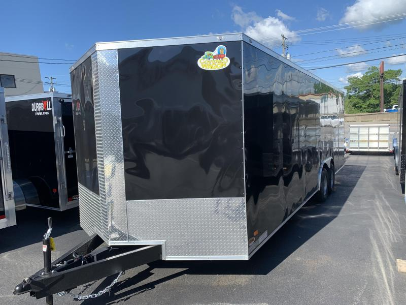 Covered Wagon Trailers 8.5 x 24 + 2' V Enclosed Car Hauler 10K