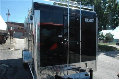 Car Mate 7 x 16 Enclosed Contractor Trailer w/ Ramp Door