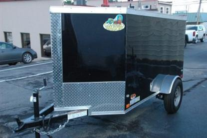 Covered Wagon 4' x 8' + 2' V Single Axle Enclosed Cargo Trailer