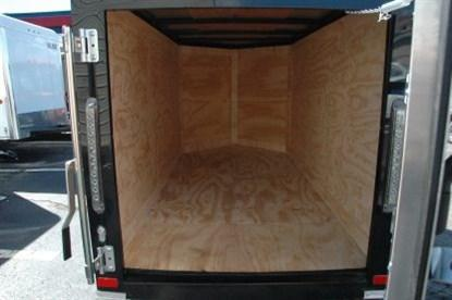 Covered Wagon 4' x 8' + 2' V Single Axle Enclosed Cargo Trailer