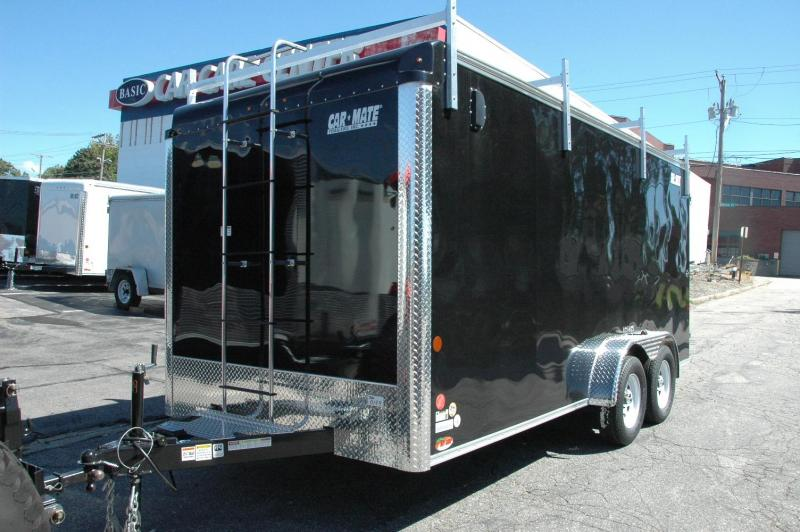 Car Mate 7 x 16 Enclosed Contractor Trailer w/ Barn Doors