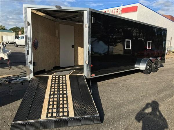 DuraBull 7 x 22 + 5' V Aluminum Enclosed Snowmobile Trailer