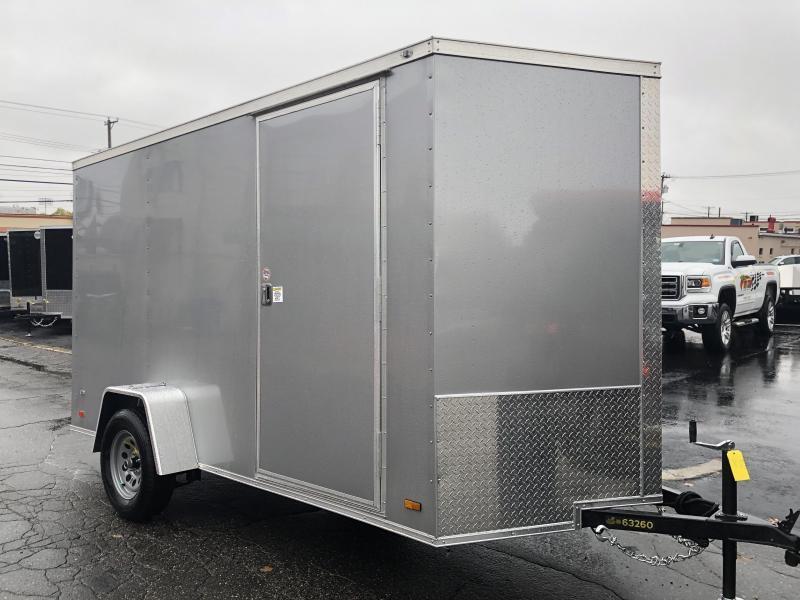 Covered Wagon 6 x 12 + 2' V Single Axle Enclosed Cargo Trailer