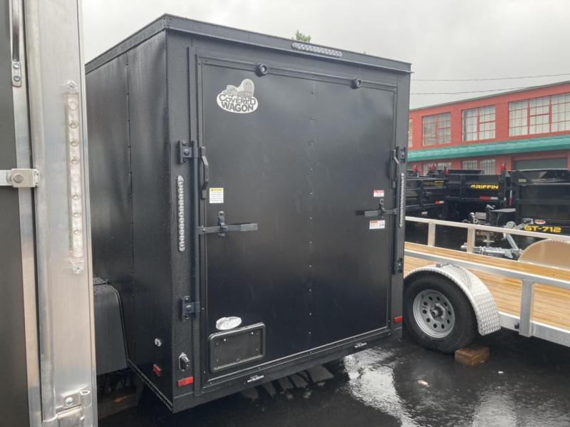 Covered Wagon Gold Mine Series 6 x 10 + 2' V Enclosed Cargo Black Out