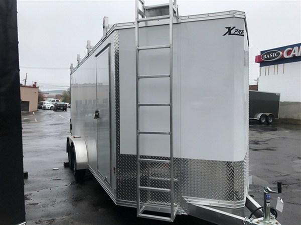 High Country 7 x 16 Aluminum Contractor Trailer w/ Barn Doors