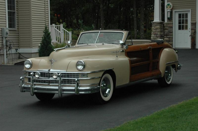 1948 Chrysler Town & Country Woodie Convertible Car