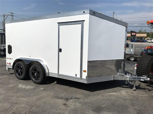 Wells Cargo 7.5 x 12 + 2' V Aluminum Enclosed Motorcycle Trailer