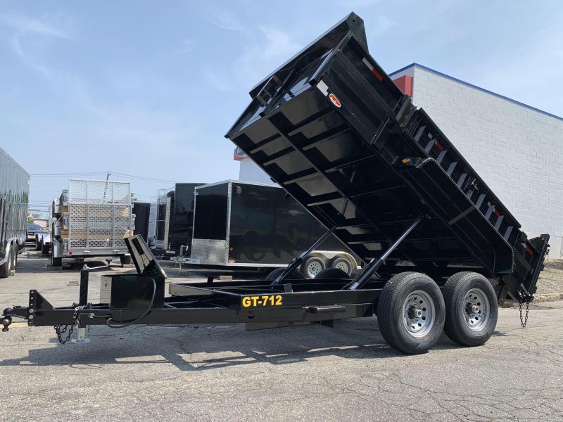 """Griffin 82"""" x 12' 12K Twin Cylinder Dump Trailer"""
