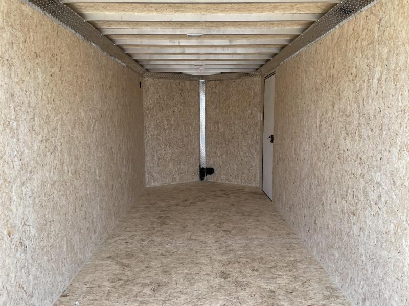 2021 Durabull Trailers Contractor Trailer DBET7x16 Enclosed Cargo Trailer Ramp Door