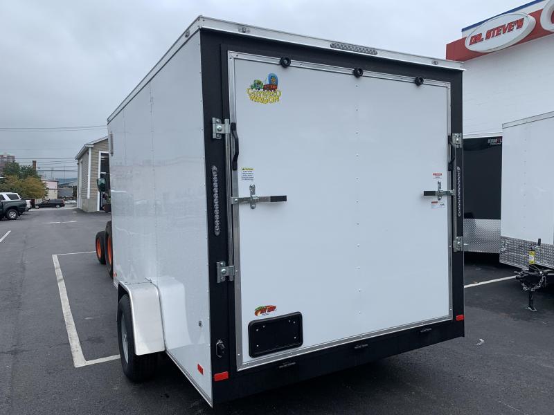 Covered Wagon 7 x 12 + 2' V Single Axle Enclosed Cargo Trailer 5200 GVWR