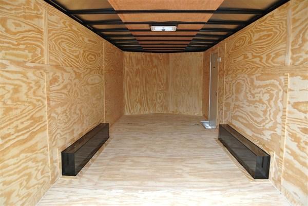 Covered Wagon Gold Series 8.5 x 24 + 2' V Enclosed Car Hauler Black Out 10K