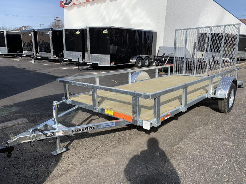 Load Rite 6x14 Galvanized Single Axle Utility Trailer