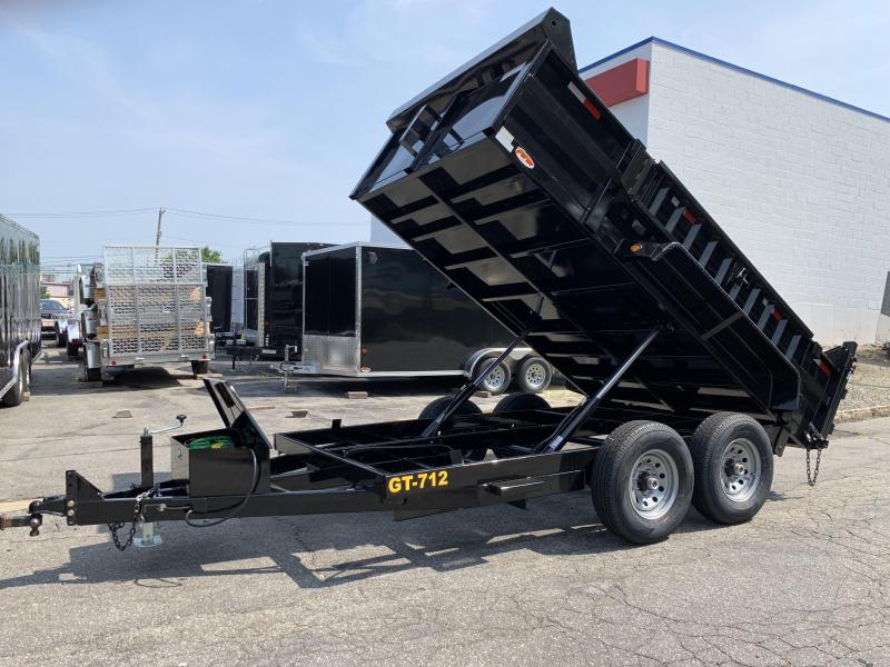 "Griffin 82"" x 12' 12K Twin Cylinder Dump Trailer"