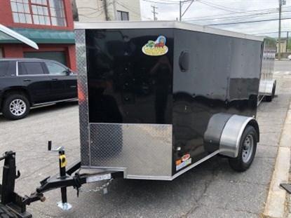 Covered Wagon 5' x 8' + 2' V Single Axle Enclosed Cargo Trailer
