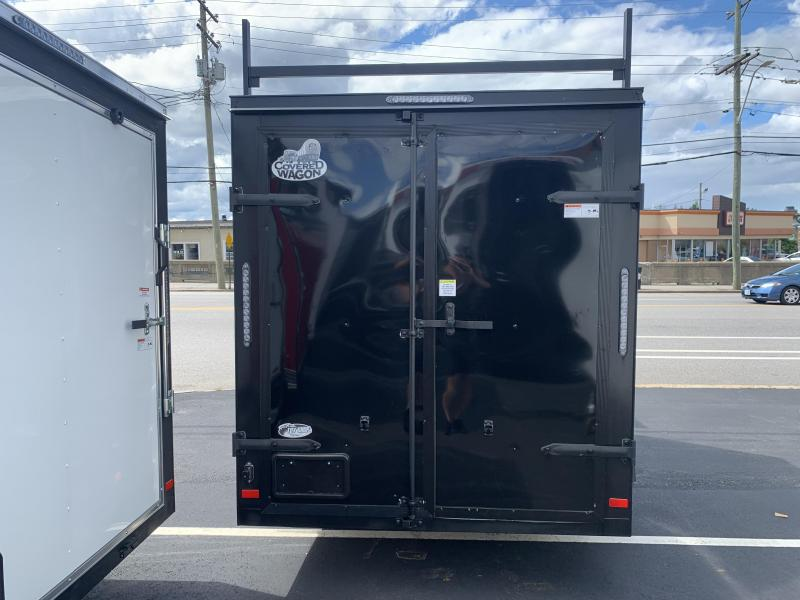 2021 Covered Wagon Trailers CW610SA Enclosed Cargo Trailer Black Out Ladder Racks Double Door
