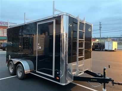 Covered Wagon 7 x 14 Enclosed Contractor Trailer w/ Barn Doors