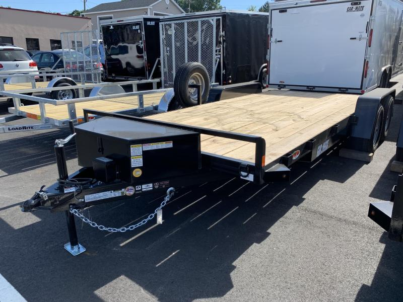 Car Mate Trailers Open Car Hauler Flatbed Trailer 82″x18′ w/ Toolbox