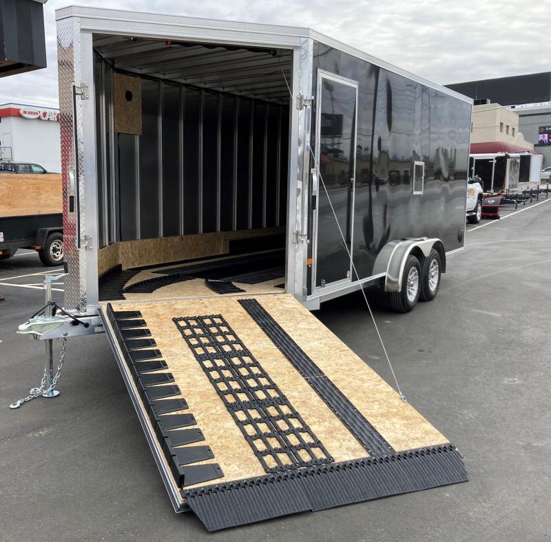 DuraBull 7.5 x 18 + 5' V Aluminum Enclosed Snowmobile Trailer