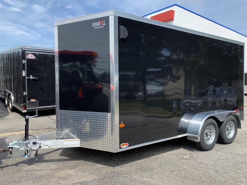 DuraBull 7 x 14 + 2' V Aluminum Enclosed Cargo Trailer w/ Ramp