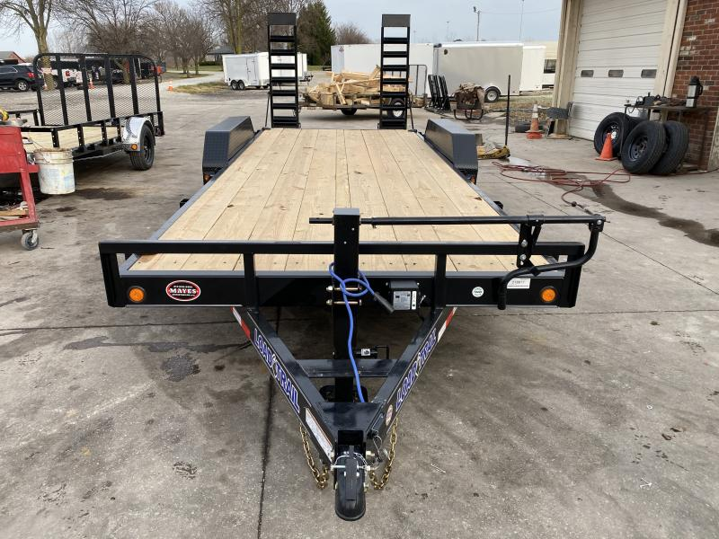 2021 Load Trail XH8320072 Car / Racing Trailer - 83x20 (18+2) TA - 6 Inch Channel Frame - D-Rings - Fold Up Ramps (GVW:  14000)