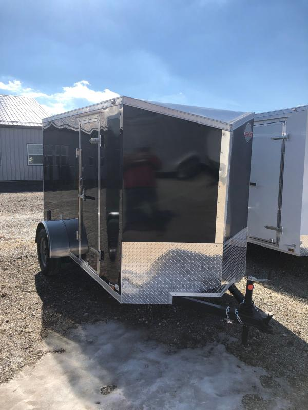 2022 Cargo Mate EHW510SA Enclosed Cargo Trailer - 5.5x10 SA - Ramp Door - Side by Side Package - 5.5 Wide Body Upgrade - 12 Inch Additional Height (GVW:  2990)