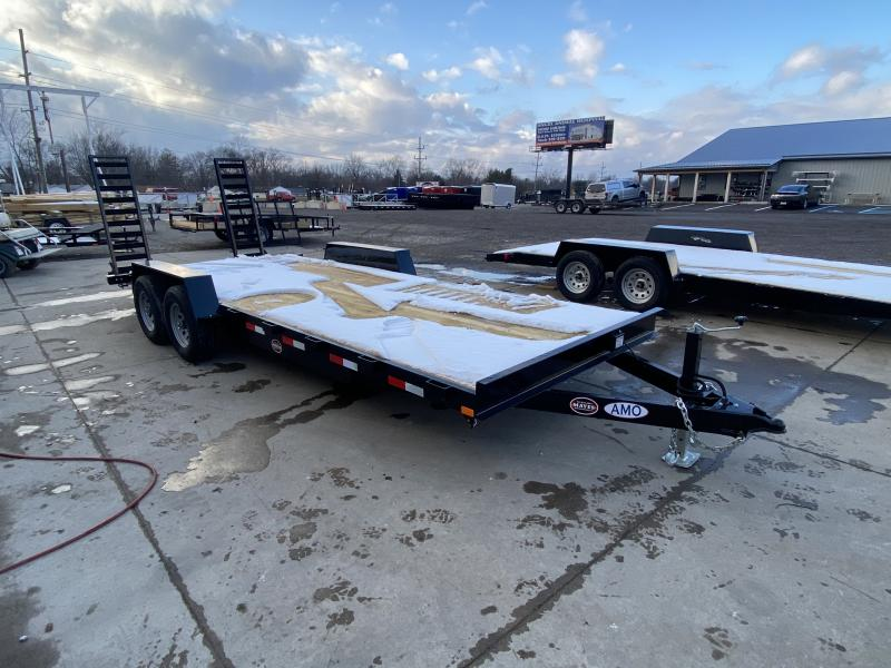 2021 American Manufacturing Operations (AMO) UC202 Equipment Trailer - 82x20 (18+2) TA Equipment - LED Lights - Dovetail - Treated Wood Floor - Stand Up Ramps (GVW:  9990)