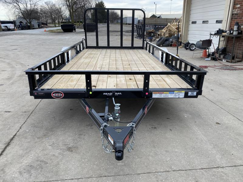 2021 PJ Trailers U8141 Utility Trailer - 83x14 SA - Straight Deck - Fold In Gate - ATV Ramps (GVW:  2995)