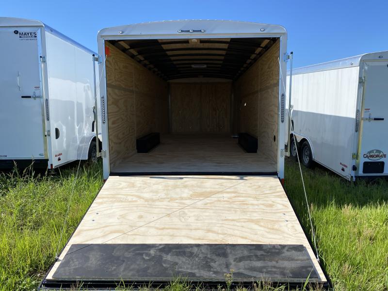 2021 Cargo Mate BL822TA3 Enclosed Cargo Trailer - 102x22 - Torsion - Ramp Door - Side Door - Aluminum Roof (GVW:  9800)