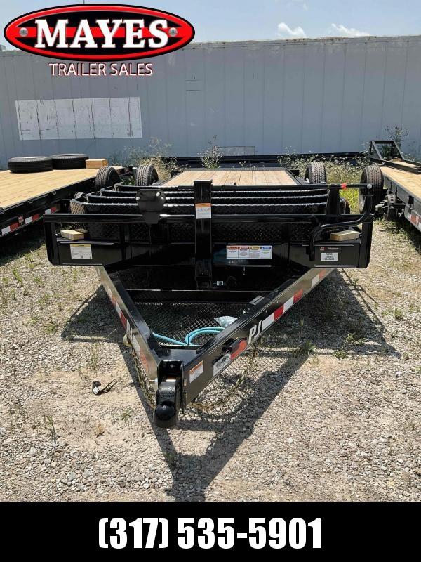 2022 PJ Trailers 1C252 (T6202) Equipment Trailer - 82x20 (4+16) TA - 6 Inch Channel - Torsion Axles - 74 Inch Wide Tiltable Deck (GVW:  14000)