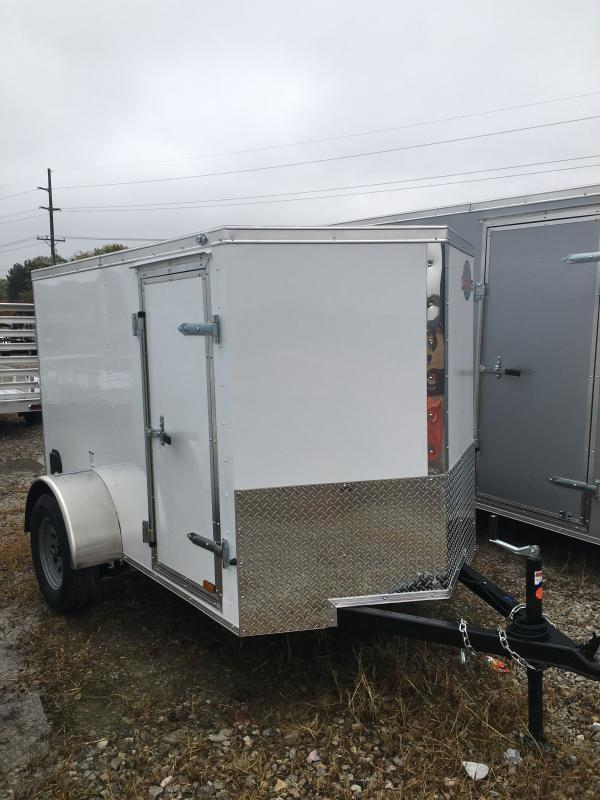 2021 Cargo Mate EHW58SA Enclosed Cargo Trailer - 5x8 SA - Ramp Door - E&V Series Pkg. 2 - Spring Suspension (GVW:  2990)