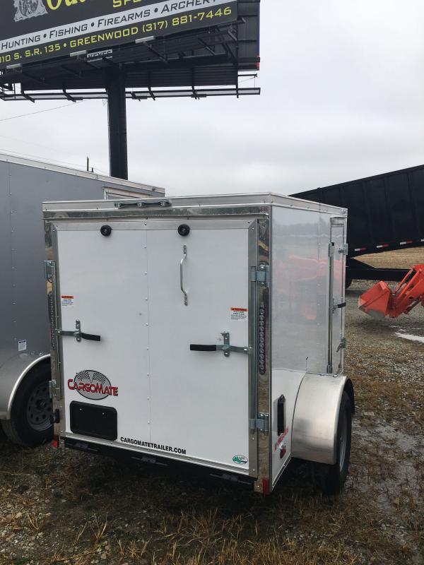 2021 Cargo Mate EHW58SA Enclosed Cargo Trailer - 5x8 SA - Ramp Door - E&V Series Pkg. 2 - Spring Suspension (GVW:  2990)