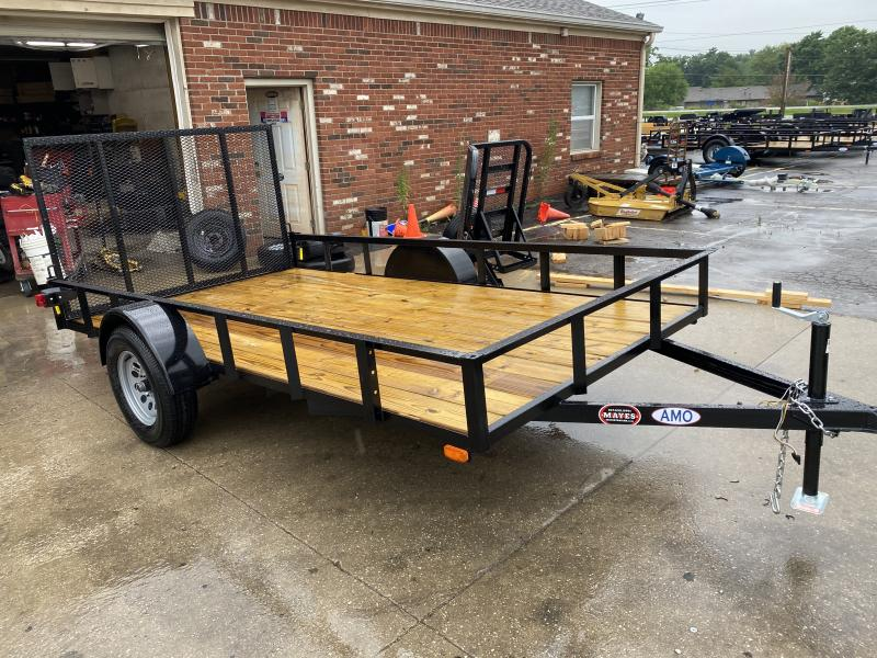 "2021 American Manufacturing Operations (AMO) US121 Utility Trailer - 76x12 SAUT - Tailgate - 15"" Tires and Wheels (GVW:  2990)"