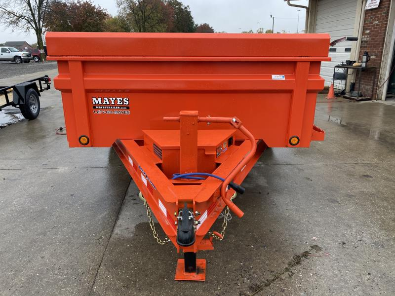 2021 Load Trail DT8314072 TA Dump - 83x14 TA Dump - 24 Inch Dump Sides - 3 Way Gate - Double Channel Slide In Ramps - D-Rings - Scissor Hoist - Spare Tire MOUNT ONLY (GVW:  14000