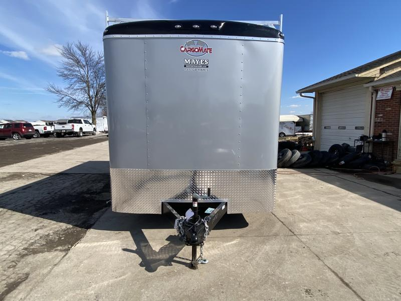2022 Cargo Mate BL816TA3 Enclosed Cargo Trailer - 8x16 TA - Alum Ladder Racks - Side by Side Package - 12 Inch Additional Height - Ramp Door - D-Rings (GVW:  9800)