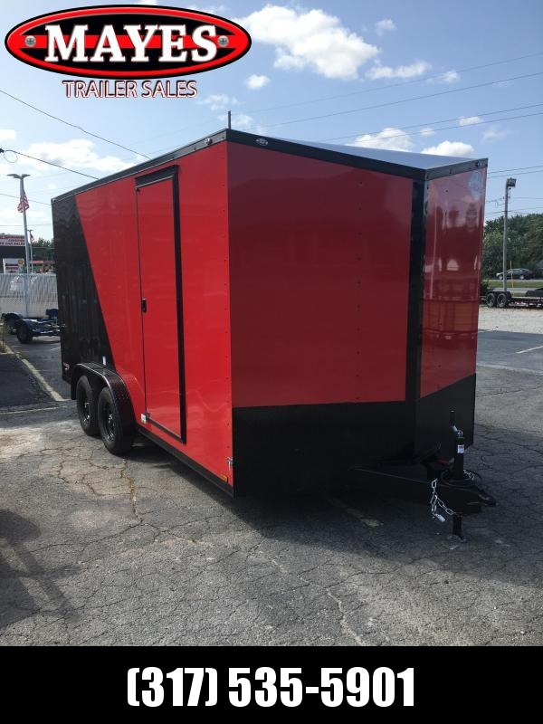 2021 Cargo Mate EHW716TA2 Enclosed Cargo Trailer - 7.5x16 TA - Two-Tone - Side by Side Package - Black Out Package - Ramp Door - 7.5 Wide Body Design - Aluminum Roof (GVW:  7000)