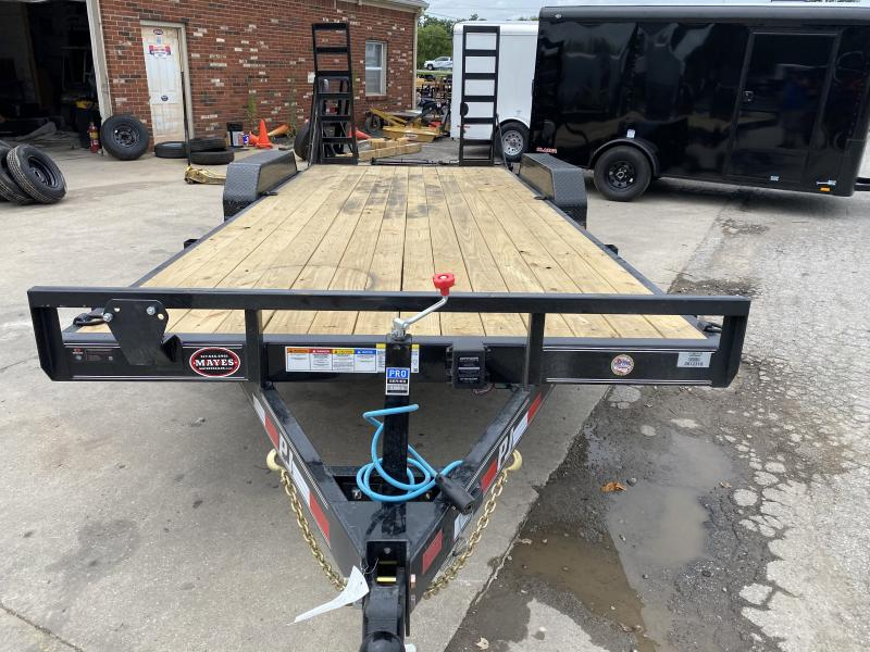 """2021 PJ Trailers 20'x5"""" Channel Equipment Trailer - CE202 - 83x20 (18+2) TA - Dovetaill - Fold Up Ramps (GVW:  9899)"""