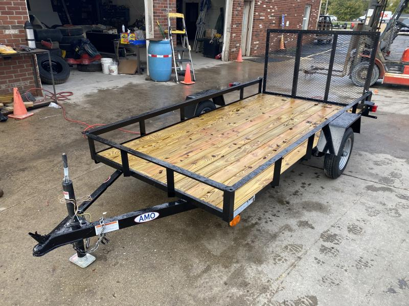 2021 American Manufacturing Operations (AMO) UL101 Utility Trailer - 60x10 SAUT - Tailgate - 12 Inch Tires and Wheels (GVW:  2000)