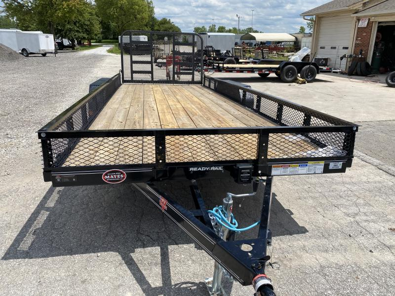 "2020 83x20  PJ Trailers UL 83"" Tndm Axle Channel Utility Trailer - Straight Deck w/ 4' Heavy Duty Fold-up Gate (GVW: 9899)(Regular Sides w/ Expanded Metal)"
